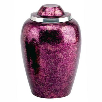 Burgundy Plumb Adult Metal Urn