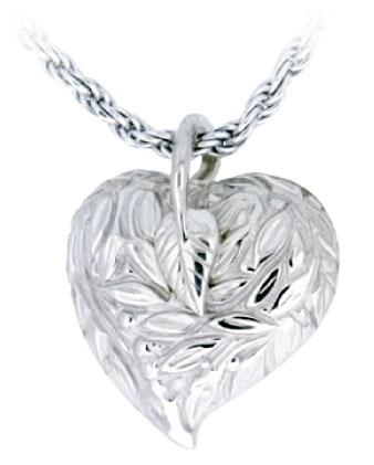 Leaves and Berries Heart Pendant