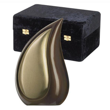 Tear Drop Bronze Tone Urn