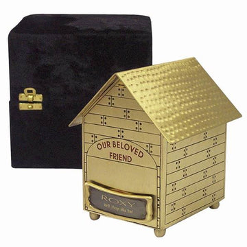 Brushed Brass Dog House Urn