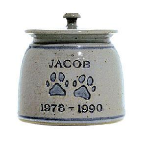 Personalized Pottery Paw Pet Urn
