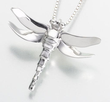 Sterling Silver Dragonfly Keepsake Cremation Pendant