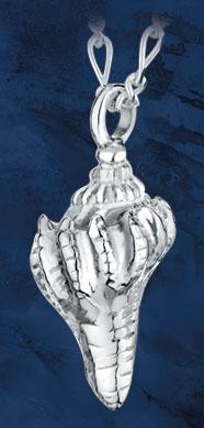 Conch Shell Keepsake Pendant
