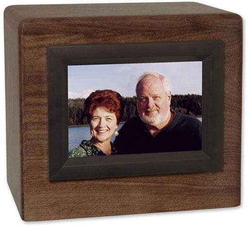 Companion Photo Display Wood Urn