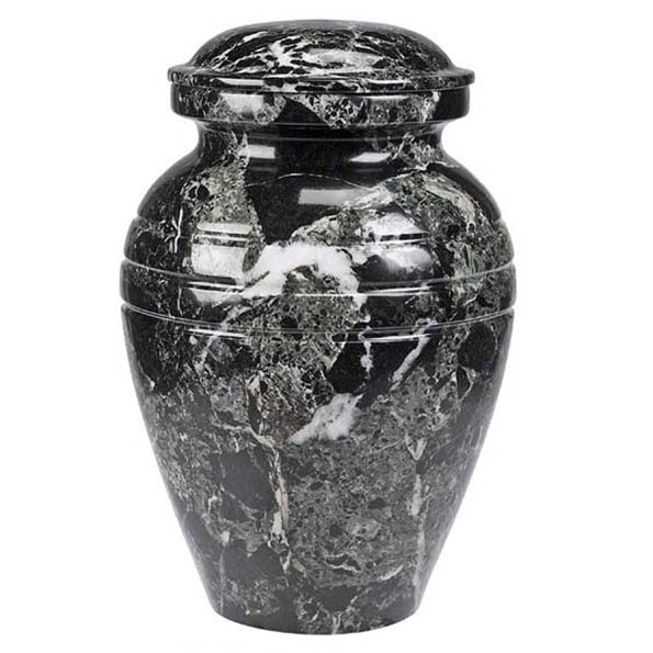 BlackGrain Marble Cremation Urn