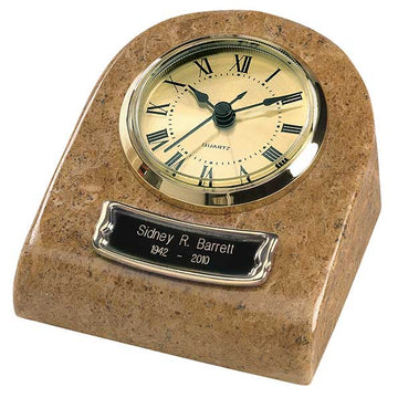 Cream Earth Grain Marble Mini Clock Keepsake