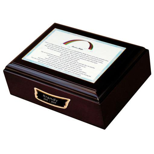 Rainbow Bridge Pet Urn w/medallion