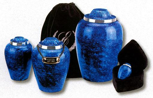 Alloy Small Urn Cobalt Blue Plumb