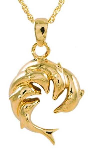 Circle of Dolphins Pet Keepsake Pendant