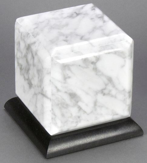 Simplicity White Marble Infant Urn