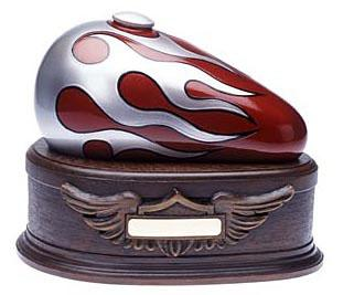 Red Born to Ride Gas Tank Urn