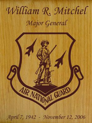 Military Wood Urn National Guard