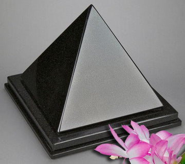Pyramid Black Granite Urn