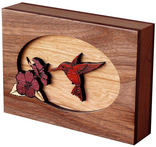 Hummingbird Wood Cremation  Keepsake