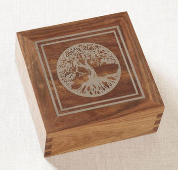 Tree of Life Rosewood Urn