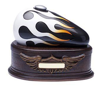 Charcoal Born to Ride Gas Tank Motorcycle Urn