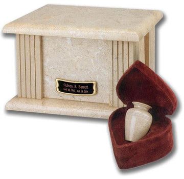 Genuine Cream Wash Marble Urn