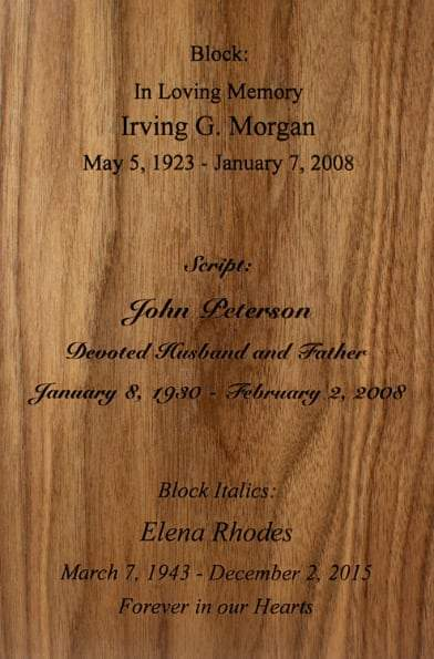 Simplicity Vertical Wood Urn