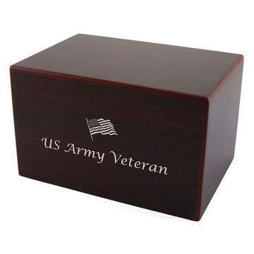 Patriotic Box Urn in Cherry