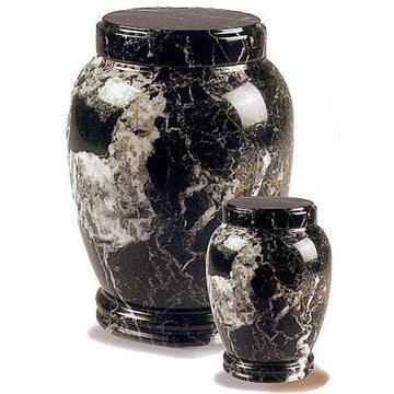 Black Zebra Marble Pet Urn II