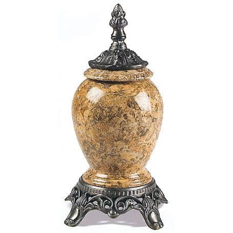 Fossil Marble - Metal Infant Urn