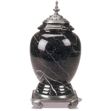 Black Zebra/Pewter II Urn