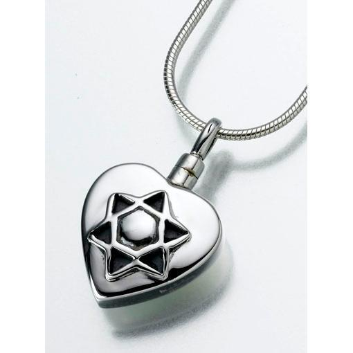 Star of David Cremation Pendant