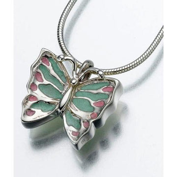 Butterfly Sterling Silver Keepsake Pendant