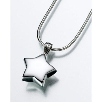 Star Keepsake Pendant Urn