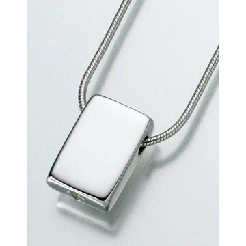 Slide Rectangle Keepsake Pendant Urn