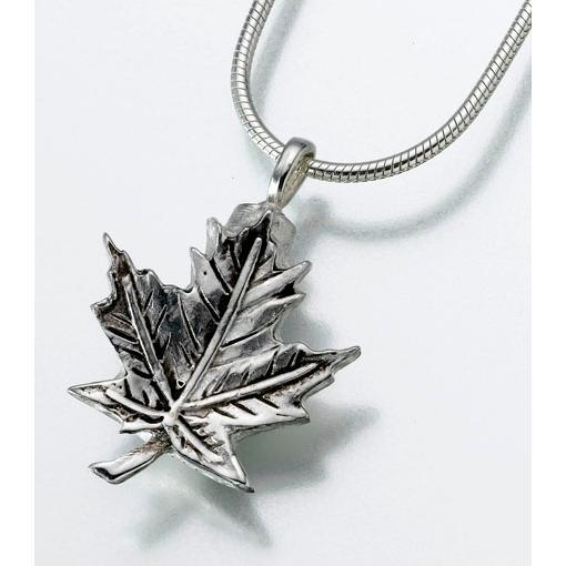 Maple Leaf Pendant Keepsake Urn