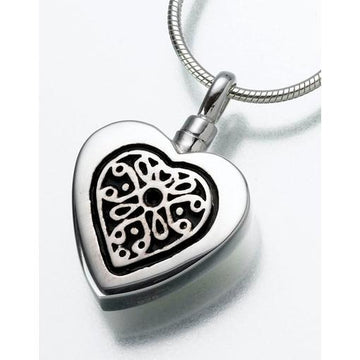 Heart with Filigree Insert Keepsake Pendant