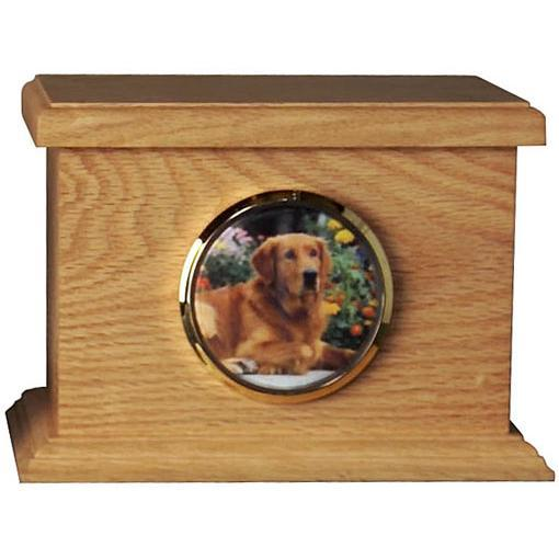 Traditional Wood Pet Urn Large