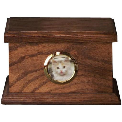 Traditional Pet Wood Urn Medium