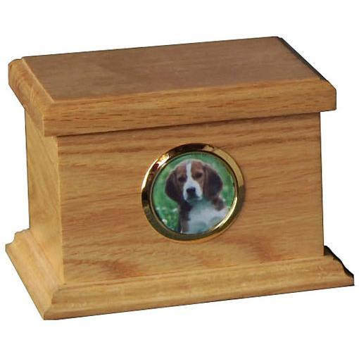 Traditional Pet Wood Urn Small