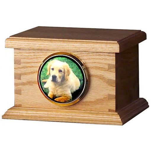 Dovetail Wood Pet Urn Large