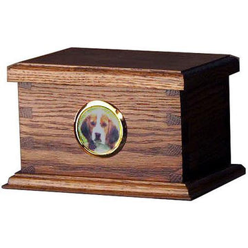 Dovetail Wood Pet Urn Small