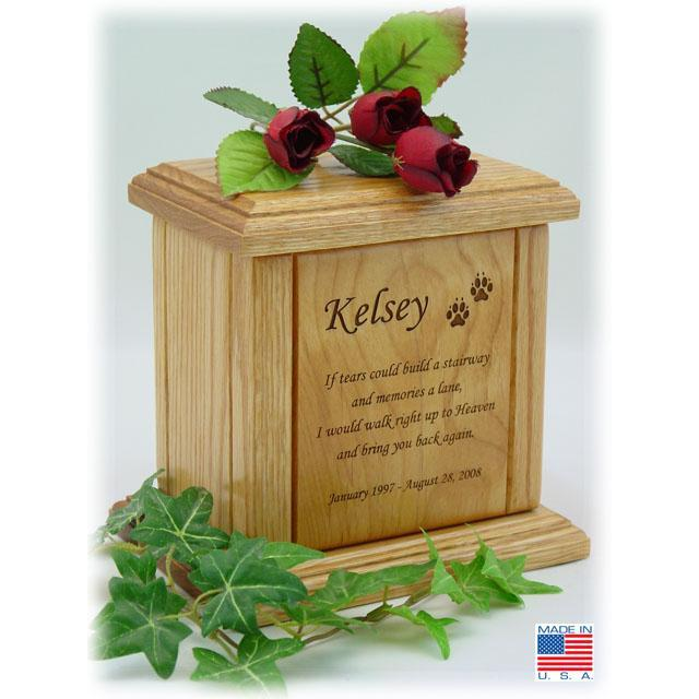 Memorial Poem Pet Wood Urn Small/Medium