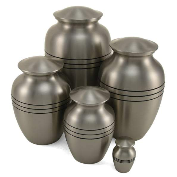 Pewter Finish Solid Brass Pet Urn