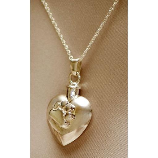 Heart with Paw Pendant