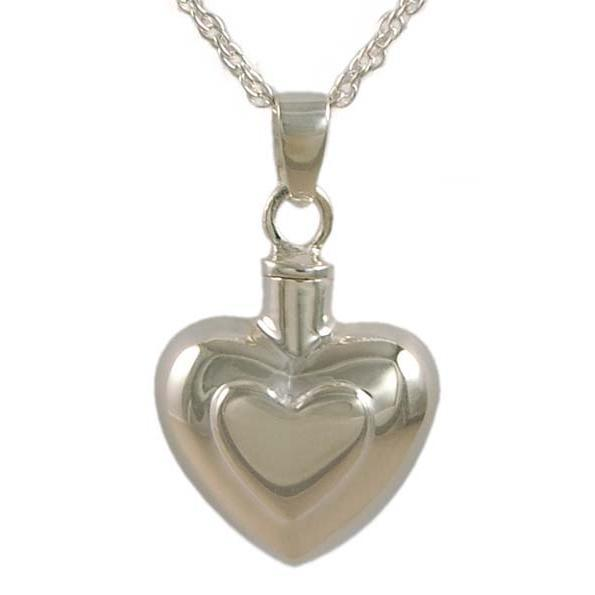Double Heart Keepsake Pendant