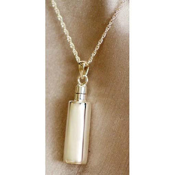 Plain Cylinder Keepsake Cremation Pendant