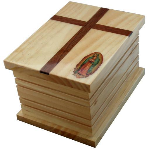 Guadalupe Cross Wood Urn