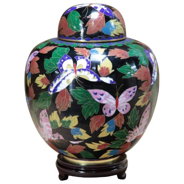 Butterfly Cloisonné Infant Urn