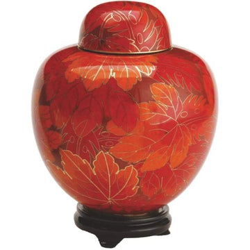 Fall Leaf Cloisonne Infant Urn