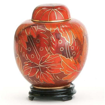 Fall Leaf Cloisonne Keepsake