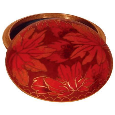 Fall Leaf Cloisonne Jewel Dish