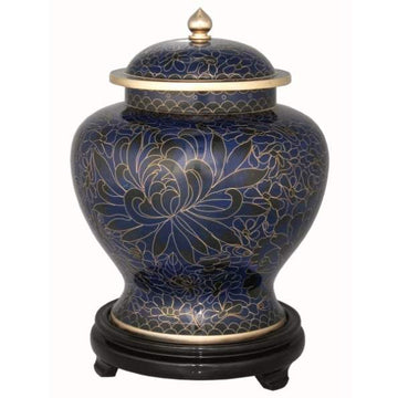 Royal Blue Cloisonné Urn