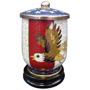 Flag & Eagle Cloisonne Keepsake