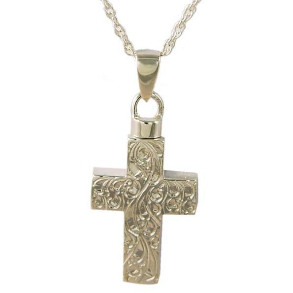 Large Etched Cross Pendant